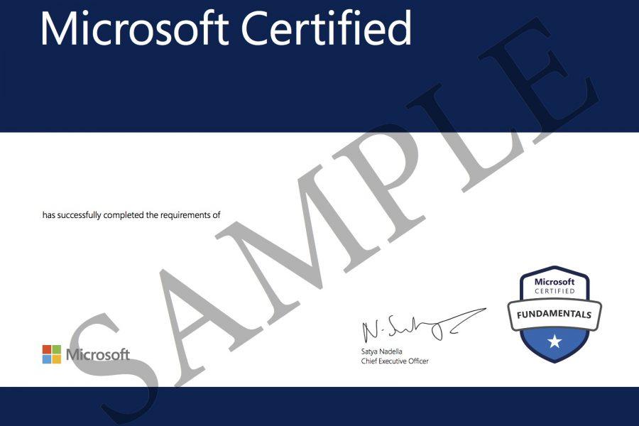 MTC Certificate 2020 - SAMPLE BLANK